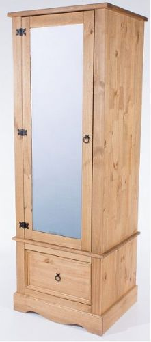 New Mexican Armoire with Mirrored Door